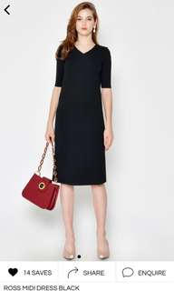 60933452ff6 BNWT Ross Midi Dress in Black