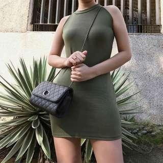 Mini Dress in Army Green