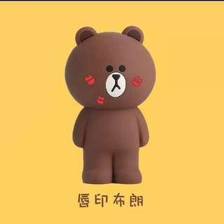 🚚 【溫馨貓小舖】 LINE FRIENDS 唇印熊大立體 造型 筆袋 鉛筆盒 收納袋 收納包 化妝包 (附盒子)