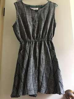 二手 黑色 灰色 斯文裙 長裙 長身裙 連身裙 dress