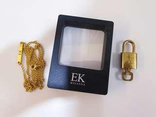 LV Padlock with EK gold chain