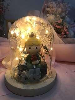 DIY小王子玻璃罩(可發光)