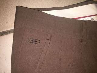 Balenciaga Brown Trousers Slack Pants