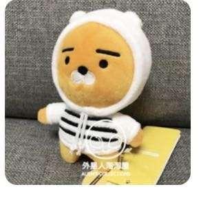 Kakaofriends Ryan公仔 全新 獅子 黑白條紋 10-19cm