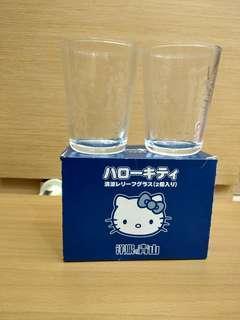 🚚 日本原裝Hello Kitty限量 玻璃杯