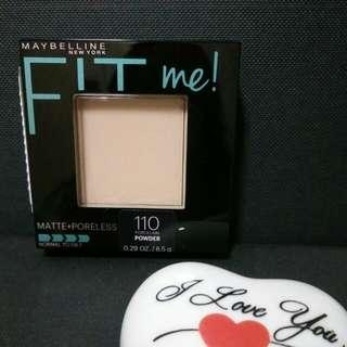 Maybelline 110 Porcelain Fit Me Pressed Powder, Includes Normal Mailing
