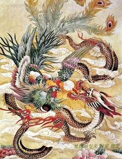 Phoenix and Dragon painting