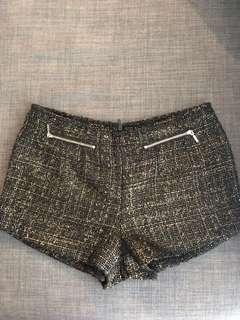Black and gold shorts from Forever 21