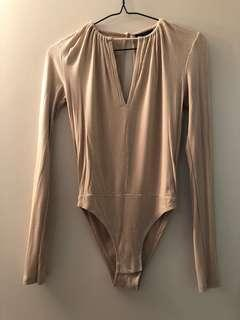 Beige bodysuit from Topshop