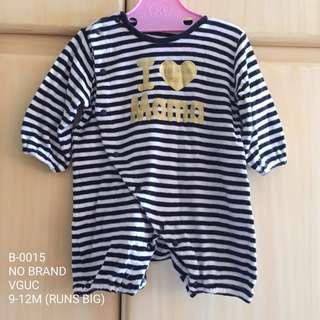 Baby Stripe Romper 9-12M