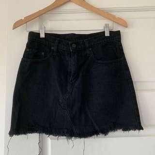 Nobody Denim Skirt Size 24 Black