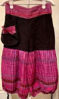Egyptian Balloon Pants - Black & Purple / Pink