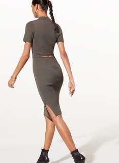 Aritzia Babaton Grisham Dress- Black XS