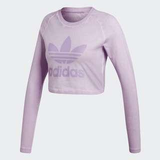 Adidas Originals Long-Sleeve Crop Top