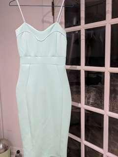 Seafoam green tank dress size small