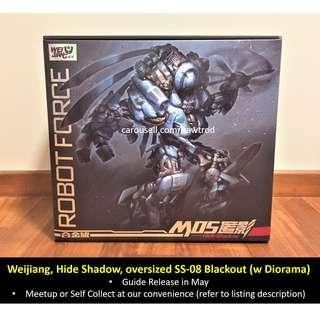 [Preorder] Weijiang, M05 Hide Shadow, KO oversized Studio Series SS-08 Blackout (with Diorama), Reissue