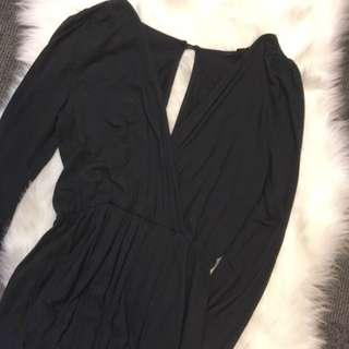 Topshop playsuit black