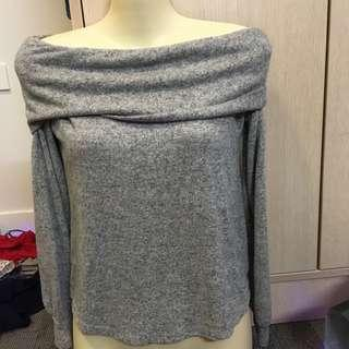 Glassons Off shoulder jumper grey