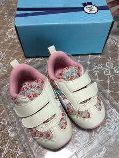 日本直送ASICS碎花鞋,size 14.5cm