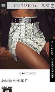 Princess polly snake skin skirt