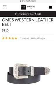 BN Brave Leather Omes Western Belt