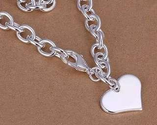 🚚 925 silver plated heart pendant necklace