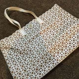 TORY BURCH White Tote Bag