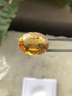 🚚 「守岑典藏」11.5ct 寶石級。超濃郁香檳金。天然黃水晶裸石