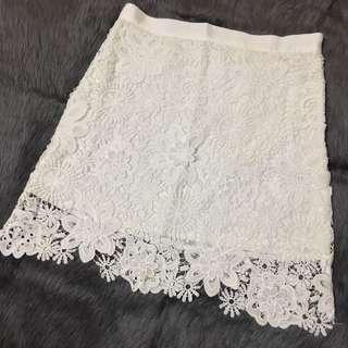 HQ Lace White Skirt