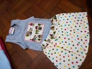 Baby dress top and bottom