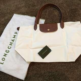 LONGCHAMP White Canvass Bag