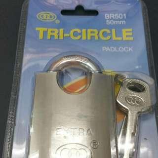 全新三環牌2吋荷包鋼鎖