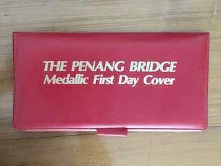 Limited Edition The Penang Bridge Medallic FDC