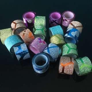 5pvs MINI GLITTERED WASHI TAPE