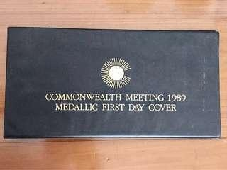 Limited Edition Commonwealth Meeting 1989 Metallic FDC