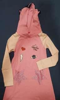 H&M pink hoodie dress