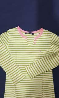 Polo green stripes