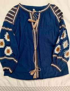 Bohemian Chic Embroidered Top (Preloved)