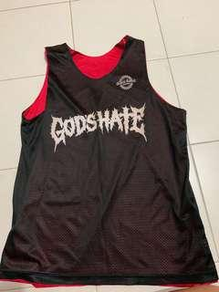 GOD'S HATE Basketball Jersey (Size Large)
