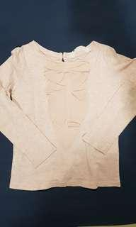 H&M pink ruffle top