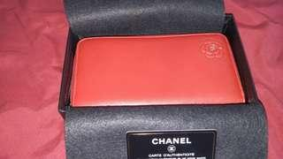 Authentic Chanel zipped around wallet