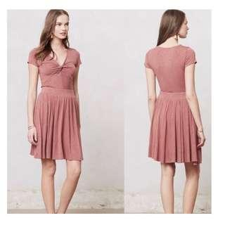 Anthropologie Dolan knotted Taya jersey dress, size PS