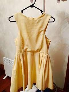 Dress size 10 - lemon yellow pastel yellow - size small size 8 size 10
