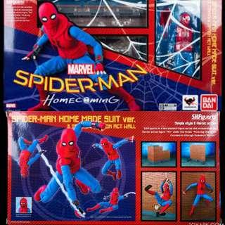 *sale* SH Figuarts Spider-Man Homemade Suit With Tamashii Act Wall Spider-ManHomecoming MISB