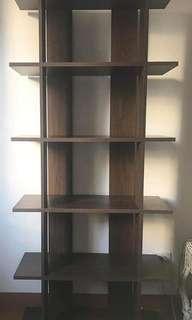 Dark Wood Open Book Shelf