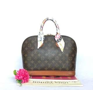 Authentic pre-owned Louis Vuitton alma handbag