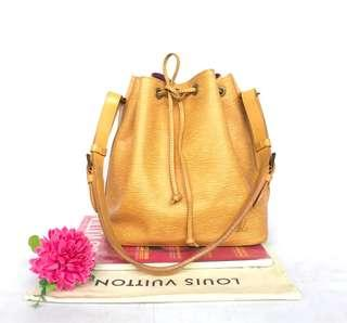 Authentic pre-owned Louis Vuitton Epi leather yellow noe shoulder