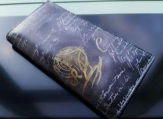 Calligraphy style long wallet