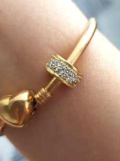 Masdora gold plated silver 925 charm clip