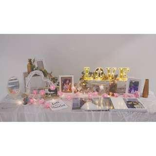 [Rental] Happily Ever After Wedding Photo Table Setup